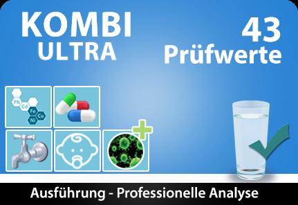 Wassertest Ultra - Trinkwassertest 43 Prüfwerte