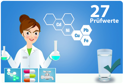 Trinkwassertest Schwermetalle Mineralien